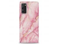 Husa TPU OEM Gilt Marble pentru Samsung Galaxy S20 FE G780, Roz
