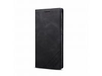 Husa Piele OEM Skin Feel Magnetic pentru Samsung Galaxy S20 FE G780, cu suport carduri, Neagra, Bulk