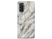 Husa TPU OEM Gilt Marble pentru Samsung Galaxy S20 FE G780, Gri, Bulk