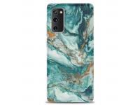 Husa TPU OEM Gilt Marble pentru Samsung Galaxy S20 FE G780, Verde