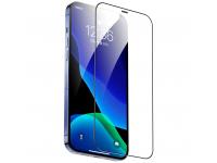 Folie Protectie Ecran Totu Design AB-057 pentru Apple iPhone 12 Pro Max, Plastic, Full Face, Full Glue, HD, Neagra