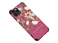Husa TPU OEM Flower pentru Apple iPhone 12 / Apple iPhone 12 Pro, Tender, Roz, Bulk