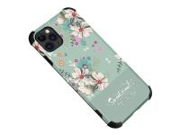 Husa TPU OEM Flower pentru Apple iPhone 12 / Apple iPhone 12 Pro, Meet, Verde, Bulk