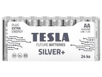 Baterie Tesla Batteries Silver+, AA / LR6 / 1.5V, Set 24 bucati, Alcalina