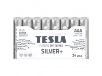 Baterie Tesla Batteries Silver+, AAA / LR03 / 1.5V, Set 24 bucati, Alcalina