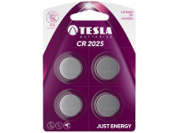 Baterie Tesla Batteries CR2025, Set 4 bucati, Litium, 3V, Blister