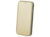 Husa Piele Forcell Elegance pentru Samsung Galaxy A20s, Aurie