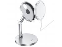Suport Birou HOCO PH39 pentru Incarcator MagSafe, Argintiu, Blister
