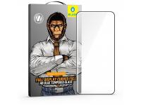 Folie Protectie Ecran Mr. Monkey Glass pentru Huawei P40 Pro, Sticla securizata, Full Face, Full Glue (AB), 5D, Neagra, Blister