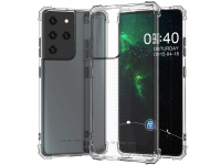 Husa TPU WZK Military Antisoc pentru Samsung Galaxy S21 Ultra 5G, Transparenta, Blister