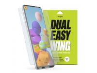 Folie Protectie Ecran Ringke Dual Easy pentru Samsung Galaxy A21s, Plastic, Full Face, Set 2 Bucati, Blister DWSG0012