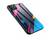 Husa TPU OEM Color Glass4 pentru Apple iPhone 11 Pro Max, cu spate din sticla, Multicolor
