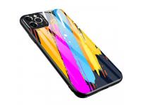 Husa TPU OEM Color Glass3 pentru Huawei P30 lite, cu spate din sticla, Multicolor, Bulk