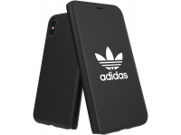 Husa Piele Adidas OR BASIC pentru Apple iPhone X / Apple iPhone XS, Neagra, Blister 31589