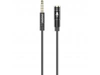 Cablu Audio 3.5 mm la 3.5 mm Dudao L11S, AUX, Tata - Mama, 1 m, Negru, Blister