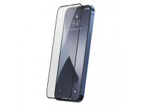 Folie Protectie Ecran Baseus pentru Apple iPhone 12 Pro Max, Sticla securizata, Full Face, Full Glue, Set 2buc, 0.25mm, Neagra SGAPIPH67N-KC01