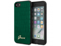 Husa TPU Guess Croco pentru Apple iPhone 8 / Apple iPhone SE (2020), Verde, Blister GUHCI8PCUMLCRG