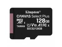 Card Memorie MicroSDXC Kingston Canvas Select Plus, 128Gb, Clasa 10 / UHS-1 U1, 100 MB/s, Blister SDCS2/128GBSP