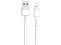 Cablu Date si Incarcare USB la Lightning XO Design NB-Q166, 1 m, 5A, Alb