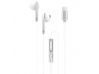 Handsfree Casti In-Ear XO Design EP29, Cu microfon, USB Type-C, Argintiu
