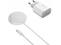 Incarcator Retea Wireless Dudao A12XS, MagSafe, Quick Charge, 15W, Alb