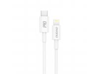 Cablu Date si Incarcare USB Type-C la Lightning Dudao L6X, 1 m, 18W, Alb, Blister