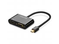 Adaptor Audio si Video HDMI / VGA - mini DisplayPort UGREEN MD108, Full HD, 1080p, Negru