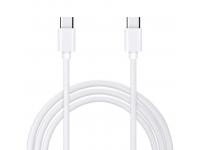 Cablu Date si Incarcare USB Type-C la USB Type-C OEM, 1 m, Alb