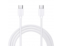 Cablu Date si Incarcare USB Type-C la USB Type-C OEM, 1 m, Alb, Blister
