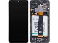 Display - Touchscreen Samsung Galaxy A32 5G A326, Cu Rama si Acumulator, Negru GH82-25453A