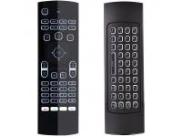 Tastatura Wireless OEM MX3, 2.4GHz, Qwerty, Senzor IR, Neagra