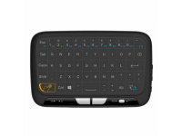Tastatura Wireless OEM H18, 2.4GHz, Qwerty, Touchpad, Neagra, Blister