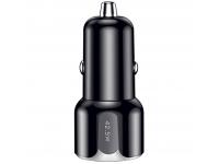 Incarcator Auto USB Totu Design DCCPD-07, 1 X USB - 1 X USB Tip-C, Quick Charge, 42.5W, Negru, Blister