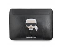 Husa Laptop Karl Lagerfeld Sleeve, pentru MacBook Air/Pro, Neagra, Blister KLCS133KHBK