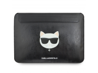 Husa Laptop Karl Lagerfeld Choupette Sleeve, pentru MacBook Air/Pro, Neagra, Blister KLCS133CHBK