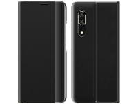 Husa Plastic - Textil OEM New Sleep Case pentru Samsung Galaxy A11 / Samsung Galaxy M11, Cu Suport, Neagra, Bulk