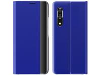 Husa Plastic - Textil OEM New Sleep Case pentru Samsung Galaxy A11 / Samsung Galaxy M11, Cu Suport, Albastra, Bulk