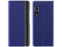 Husa Plastic - Textil OEM New Sleep Case pentru Samsung Galaxy A11 / Samsung Galaxy M11, Cu Suport, Albastra