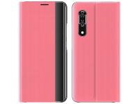 Husa Plastic - Textil OEM New Sleep Case pentru Samsung Galaxy A52 5G, Cu Suport, Roz
