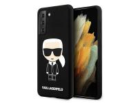 Husa TPU Karl Lagerfeld Iconik Full Body pentru Samsung Galaxy S21 5G, Neagra KLHCS21SSLFKBK