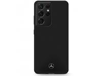 Husa TPU MERCEDES Silicone pentru Samsung Galaxy S21 Ultra 5G, Neagra MEHCS21LSILBK