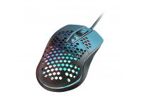 Mouse Wired USB XO Design M4 Streamer, RGB, Negru