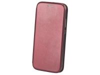 Husa Piele OEM Elegance pentru LG K50, Visinie