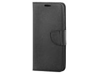 Husa Piele OEM Fancy pentru Motorola Moto G9 Play, Neagra, Bulk