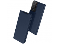 Husa Poliuretan DUX DUCIS Skin Pro pentru Samsung Galaxy S21 Ultra 5G, Bleumarin