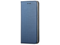 Husa Piele OEM Smart Magnet pentru Motorola Moto G9 Power, Bleumarin, Bulk