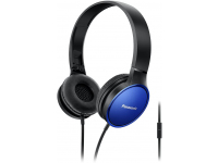 Handsfree Casti On-Ear Panasonic RP-HF300ME-A, Cu microfon, 3.5 mm, cu banda, Albastru PNS00164