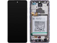 Display - Touchscreen Samsung Galaxy A72 4G, Cu Rama, Mov GH82-25541C