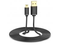 Cablu Date si Incarcare USB la MiniUSB UGREEN US132, 1.5 m, 480 Mbps, Negru