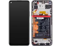 Display - Touchscreen Huawei P40 lite 5G, Cu Rama, Acumulator si piese, Negru 02353SUN